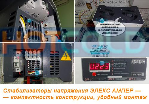 Симисторные однофазные стабилизаторы напряжения ЭЛЕКС АМПЕР