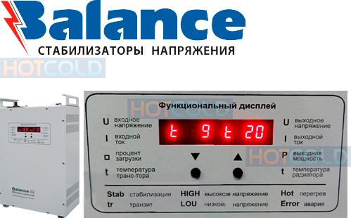Электронные стабилизаторы напряжения ТМ Баланс