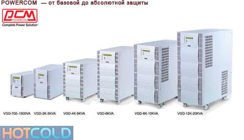Источник бесперебойного питания Powercom VGD