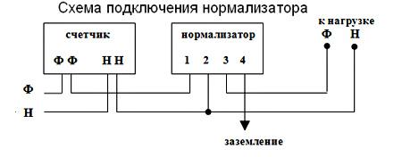 схема монтажа стабилизатора напряжения PHANTOM